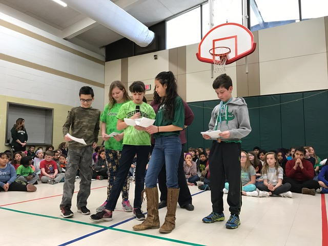 students announcing their fundraiser